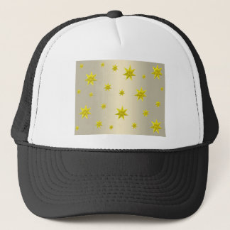 Christmas yellow stars abstract background trucker hat