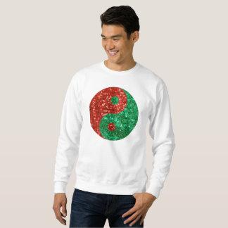 christmas yin yang mens sweatshirt