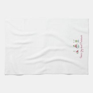 Christmas yoga  snowmen kitchen towel