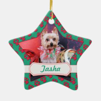 Christmas - Yorkie - Tasha Christmas Ornaments