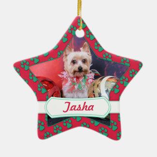 Christmas - Yorkie - Tasha Christmas Tree Ornament
