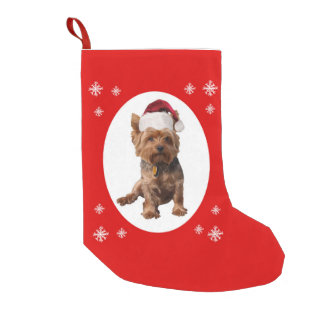Christmas Yorkshire Terrier Small Christmas Stocking