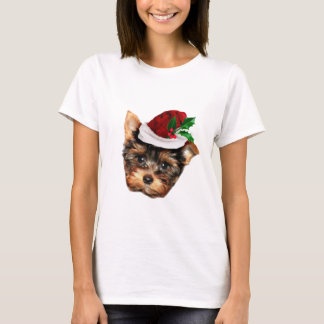Christmas Yorkshire Terrier T-Shirt