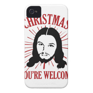 Christmas You're Welcome iPhone 4 Covers