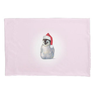 Christmas Zoo Babies Penguin Pillow Case