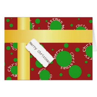 Christmaspackage Greeting Card
