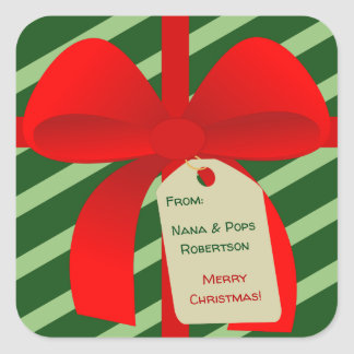 Christmassy Bow Gift Tag