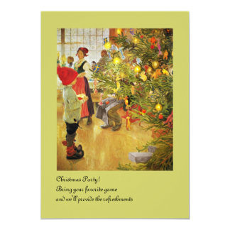 Christmastime Again little boy and Julgran 13 Cm X 18 Cm Invitation Card