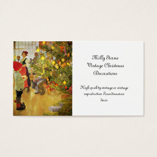 Christmastime Again little boy and Julgran Business Card