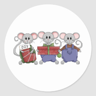Christmouse Time Classic Round Sticker