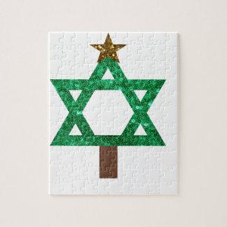 christmukkah christmas tree jigsaw puzzle