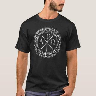 Christogram with Jesus Prayer in Romanian Shirt