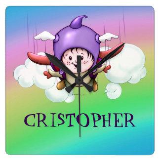 CHRISTOPHE ALIEN SQUARE CLOCK