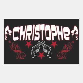 """Christophe"" Logo Stickers"