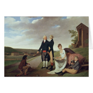 Christophe-Philippe Oberkampf and family Card