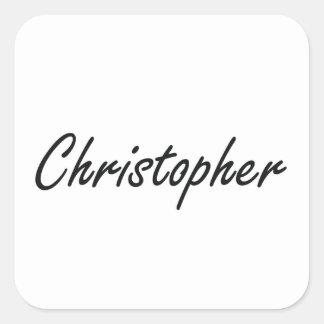 Christopher Artistic Name Design Square Sticker