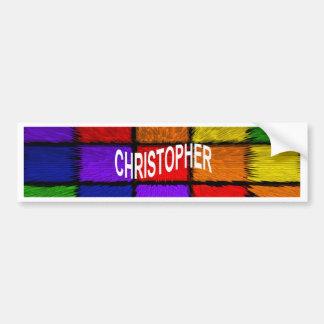 CHRISTOPHER BUMPER STICKER