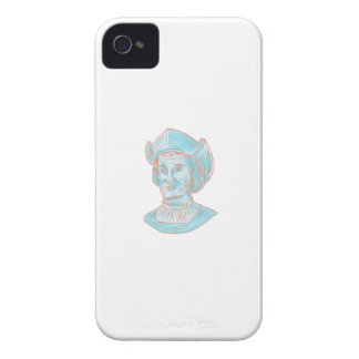Christopher Colombus Explorer Bust Drawing iPhone 4 Case-Mate Case