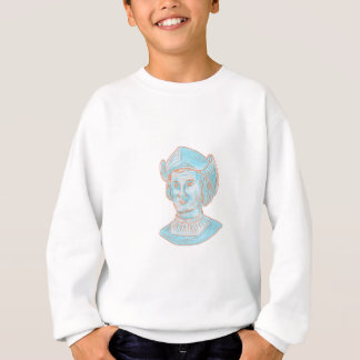 Christopher Colombus Explorer Bust Drawing Sweatshirt