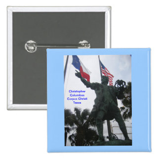 Christopher Columbus 15 Cm Square Badge