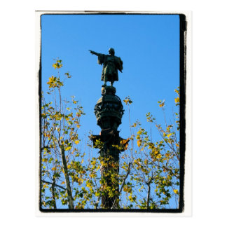 Christopher Columbus - Barcelona, Spain Postcard