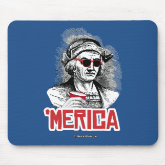 Christopher Columbus 'Merican Party Mouse Pad