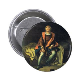 Christopher Columbus paint by Antonio de Herrera 6 Cm Round Badge