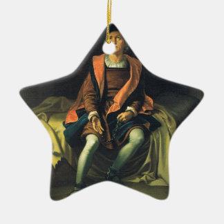 Christopher Columbus paint by Antonio de Herrera Ceramic Star Decoration