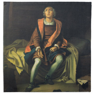 Christopher Columbus paint by Antonio de Herrera Napkin