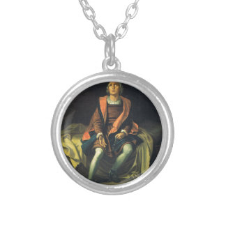Christopher Columbus paint by Antonio de Herrera Silver Plated Necklace