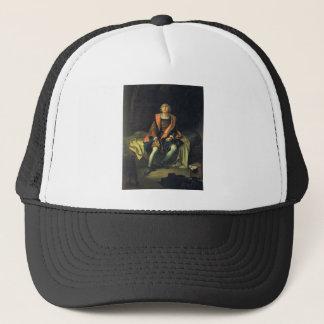 Christopher Columbus paint by Antonio de Herrera Trucker Hat