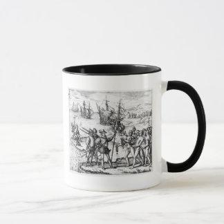 Christopher Columbus  receiving  gifts Mug