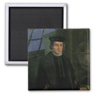 Christopher Columbus Square Magnet