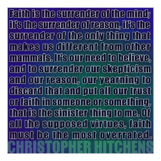 Christopher Hitchens | Surrender of Reason Poster