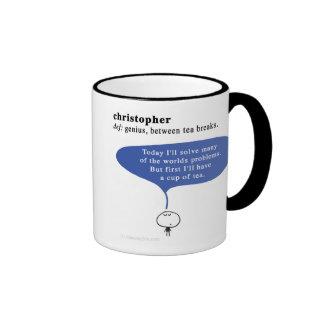 christopher coffee mugs