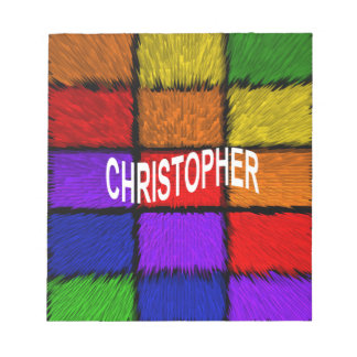 CHRISTOPHER NOTEPAD