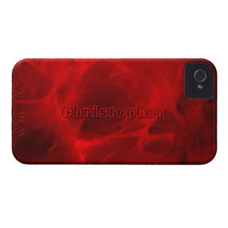 Christopher Red Veining iPhone 4 case