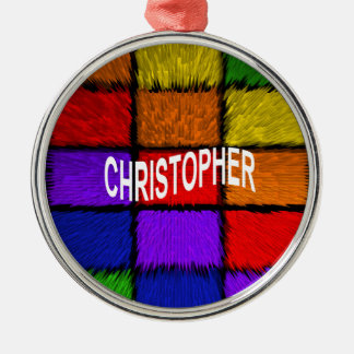 CHRISTOPHER Silver-Colored ROUND DECORATION