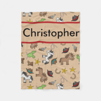 Christopher's Personalized Cowboy Blanket