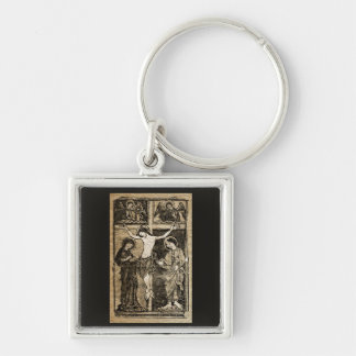 Christ's Crucifixion in Sepia | Key Chain