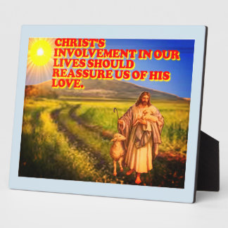 Christ's Involvement In Our Lives. Plaque
