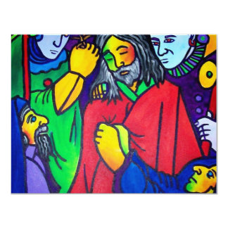 Christ's Passion by Piliero 11 Cm X 14 Cm Invitation Card