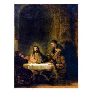 Christus in Emmaus by Rembrandt Postcard