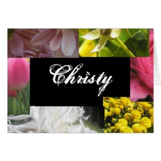 Christy Greeting Card