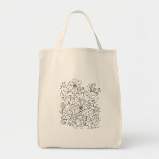 Chroma Tomes Gnomes Tote Bag Color Your Own