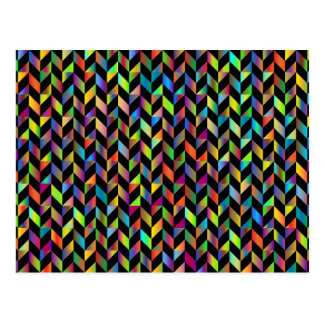 Chromatic Colourful Geometric Abstract Pattern Postcard