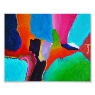 Chromatic Matrix Mini Abstract Art Poster