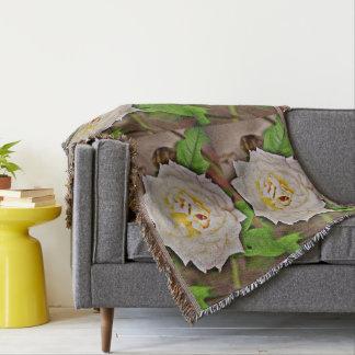 Chromatic White Rose Custom Throw Blanket