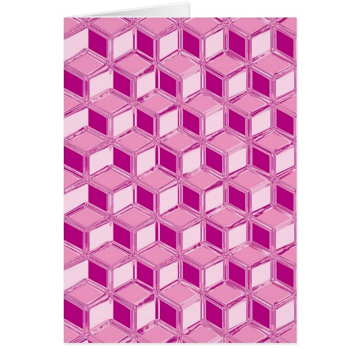Chrome 3-d boxes - fuchsia pink cards