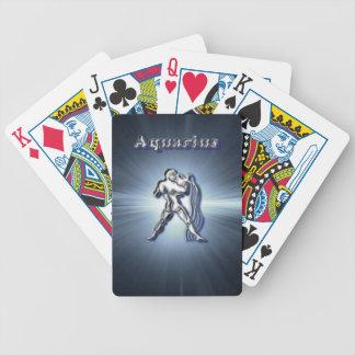 Chrome Aquarius Bicycle Playing Cards